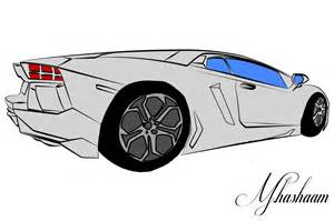 Lamborghini Aventador Drawing Lamborghini Aventador Sketch By Tecartist On Deviantart