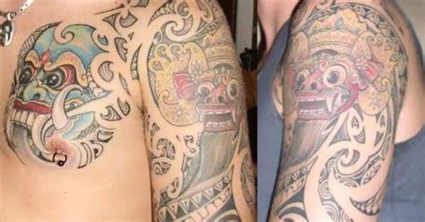 barong tattoo body a barong rangda tattoo done in bali ink pinterest