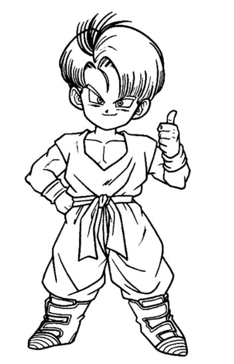 kid vs kid goku coloring pages