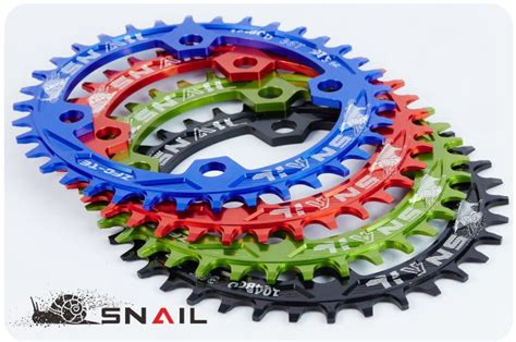 Chainwheel Sepeda 104bcd 34t snail ultralight 104bcd 32t 34t 36t38t a7075 alloy bike chainring oval chainwheel mtb road
