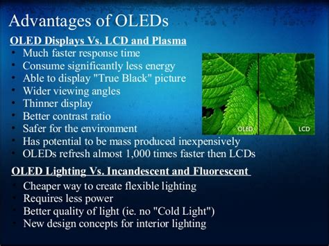 light emitting diodes advantages oled organic light emitting diode