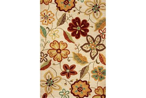 Outdoor Decorating Ideas Meridian Ivory Rug Large Flower Print Rug With Red