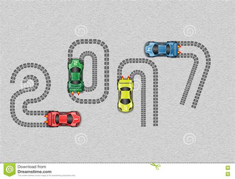 2017 race car happy new year stock vector image 79292647