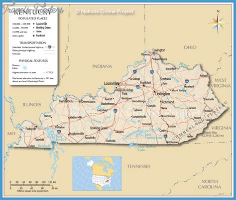 kentucky map america map of kentucky travelsfinders
