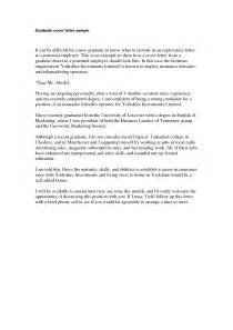 graduate position cover letter sle cover letter for new graduate exles of purchase
