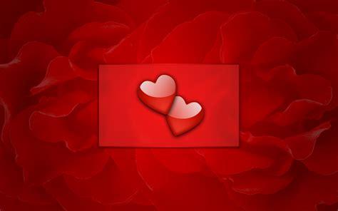 wallpaper cartoon red wallpapers love couple cartoon cute hearts red walldevil