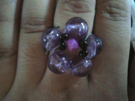 como hacer un anillo con mostacillas o bolitas ring como