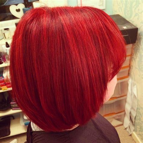 unique bright red hair color ideas