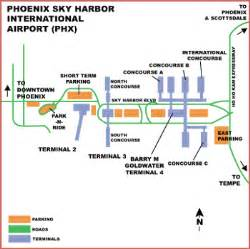 Phoenix Sky Harbor Map by Sky Harbor Airport Map Related Keywords Amp Suggestions
