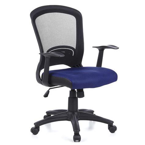 silla de ordenador flier  soporte lumbar en azul