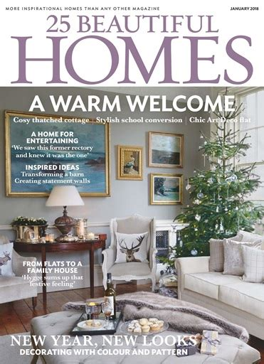 25 beautiful homes magazine january 2018 subscriptions