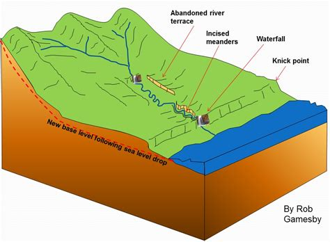 river cross section definition terrace and floodplain diagram freshwater marsh diagram