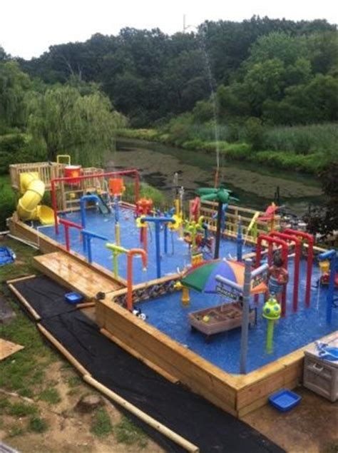 backyard water park best 25 backyard water parks ideas on pinterest