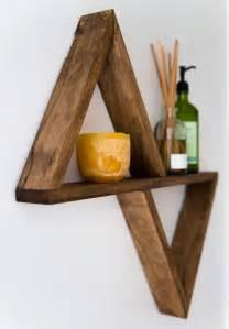 wooden shelves diy best 25 triangle shelf ideas on large