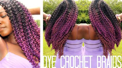 ombre marley hair purple how to dye synthetic crochet braids youtube