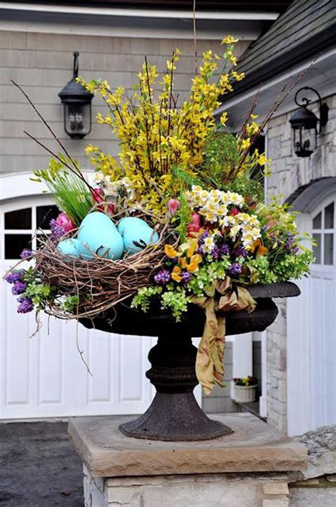 spring flower arrangement ideas 29 cool diy outdoor easter decorating ideas amazing diy