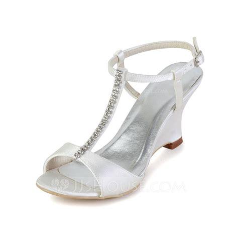 Rhinestone Wedge Sandals s satin wedge heel sandals slingbacks wedges with