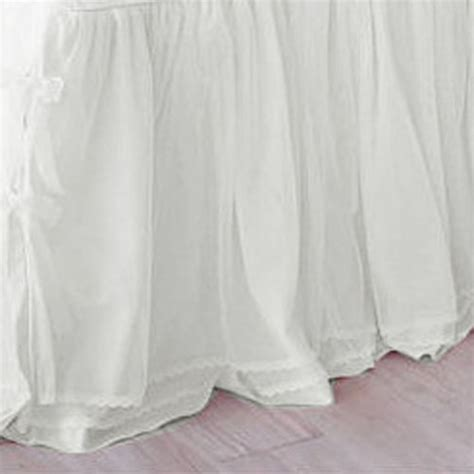 white bed skirt white bedskirt
