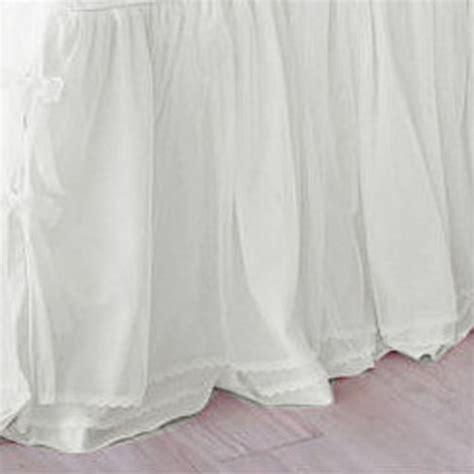 white bedskirt