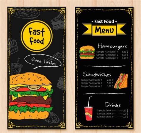 fast food menu design templates top 30 free restaurant menu psd templates in 2017 colorlib