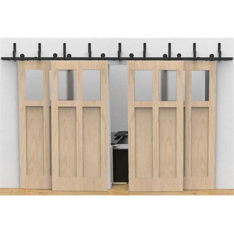 Bypass Sliding Barn Doors Winsoon Modern 4 Doors Bypass Sliding Barn Door Hardware Track Kit 5 16ft T Formed