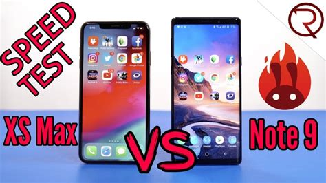 iphone xs max vs samsung note 9 speed test