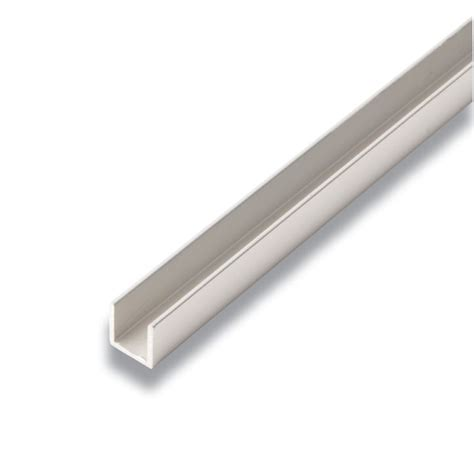 1 x 2 aluminum u channel alexandria moulding metal u channel satin clear 1 2 in x