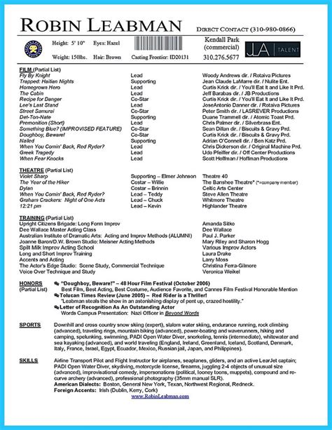 Acting Resume Template Free by Acting Resume Template Is Useful For You Who Are Now Seeking A In Acting The Acting