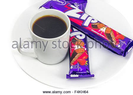 Cadbury Chocolate Wafer Zip cadbury zip chocolate wafer bar owned by mondelez international stock photo royalty free image