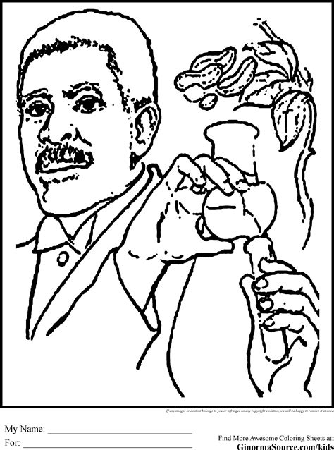 free coloring pages of george washington carver george washington carver coloring page coloring home