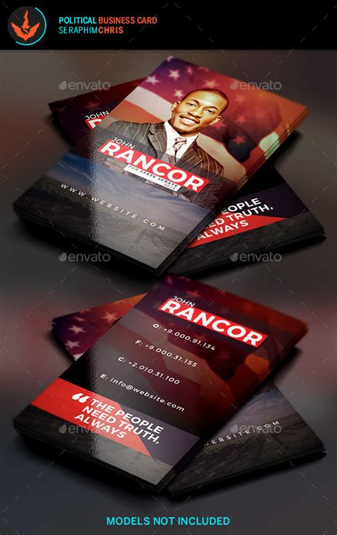 political caign business card templates political business card template by seraphimchris