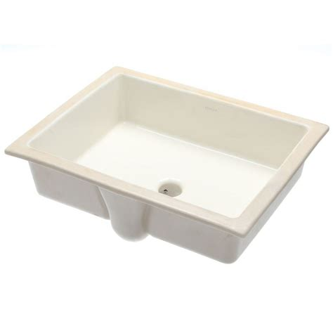 Kohler Kitchen Sink Drain Kohler Verticyl Vitreous China Undermount Bathroom Sink With Overflow Drain In Biscuit With