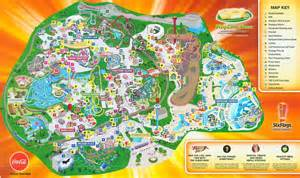 Six Flags Great America Map by Six Flags Great America 2012 Map