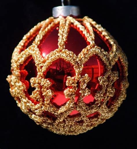 crochet christmas ornament cover b1 3 by sueallencrochet