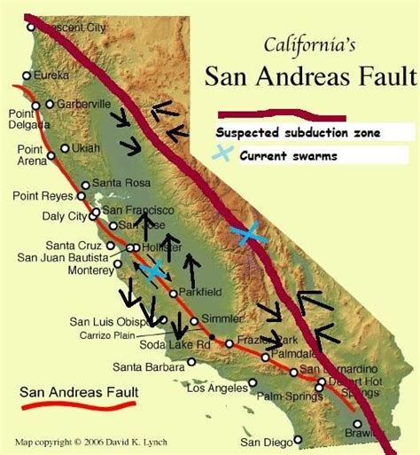 san andreas fault line map putting it all together a theory of historical proportions involving wa id mt wy nv or and ca