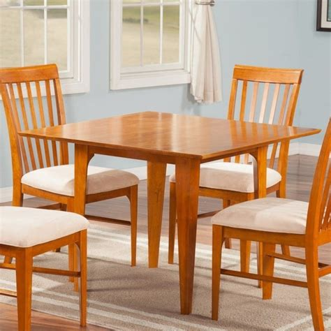 atlantic furniture shaker dining table in caramel latte