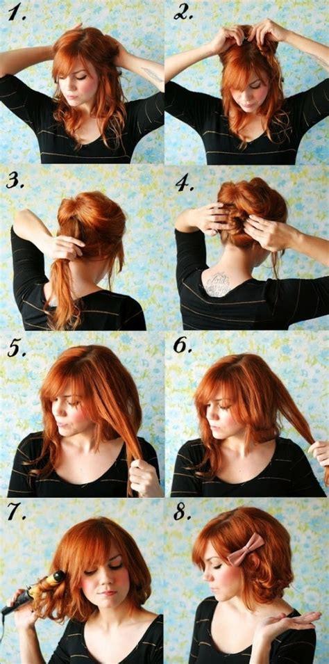 how to cut short hair short hair no cutting hairstyle diy alldaychic