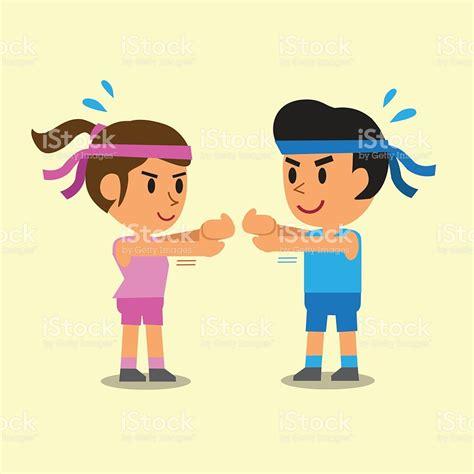 imagenes niños haciendo ejercicio fisico dibujos animados personas haciendo ejercicios de