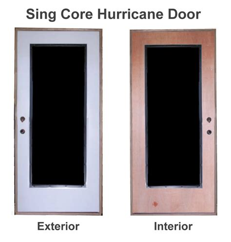 Hurricane Exterior Doors Hurricane Door Non Warping Patented Honeycomb Panels And Door Cores