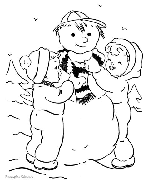 christmas tree and snowman coloring pages snowman christmas coloring pages 008 coloring home