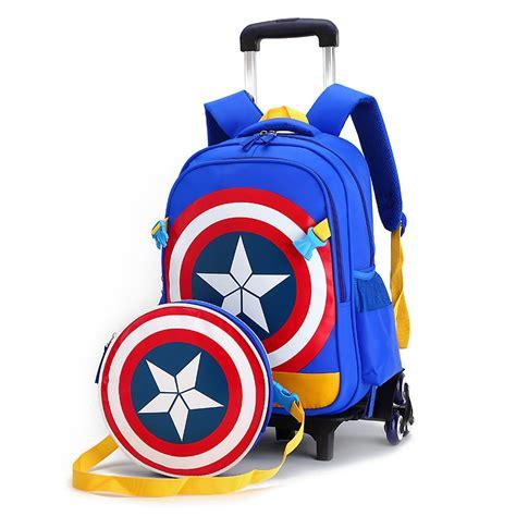 Backpack 3 Student Book ᗐchildren trolley 2 6 wheels elementary ξ school student books bag backpack rucksack boy
