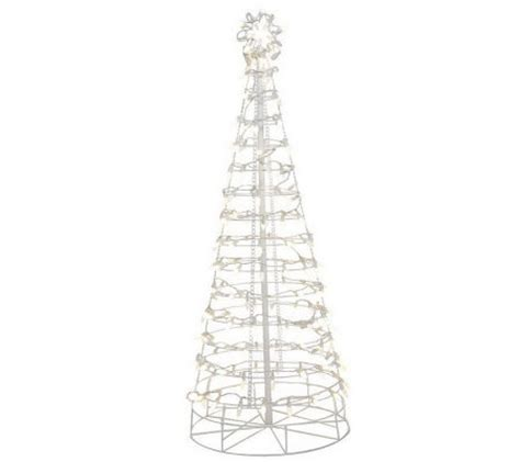 santas best 6 collapsible outdoor pre lit christmas tree