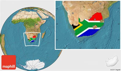 Address Finder South Africa Flag Location Map Of South Africa Satellite Outside