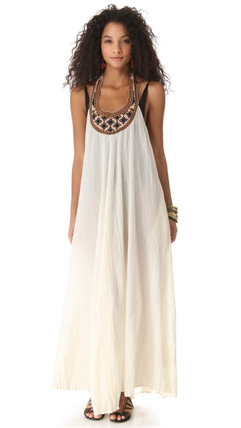 Maxi Dress Cover Up by Shoshanna Geo Embroidered Cover Up Maxi Dress In White