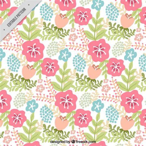Vector Pattern Pastel Free | flowers vintage pattern in pastel colors vector free
