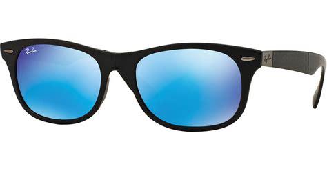 Rayban Elastis Lensa ban s wayfarer plastic sunglasses with mirror lenses in blue lyst