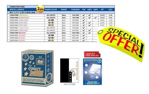 Paperline 9 5 X 11 2 4 Ply Ncr 500 Box Prs high quality laser paper computer f end 12 31 2016 8 13 pm