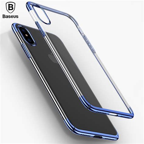baseus luxury plating glitter for iphone x ultra thin