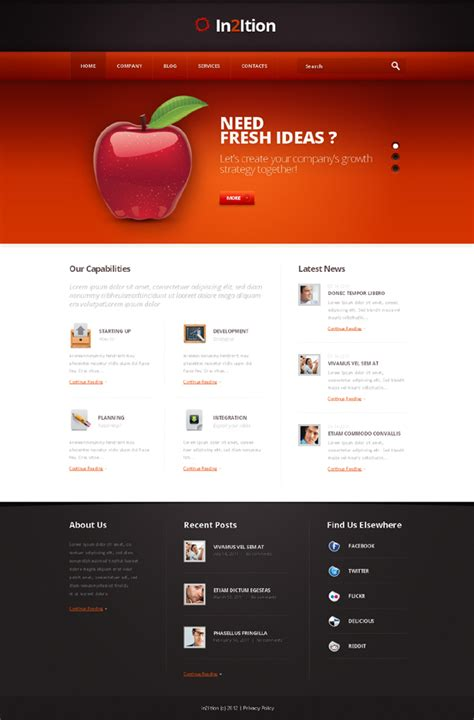 Template Monstrer template studio design gallery best design