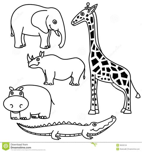Animals Outline Kids Coloring Europe Travel Guides Com Outline Pictures Of Animals For Colouring